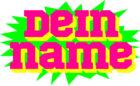 Neues T-Shirt-Motiv: Buntes Logo mit eigenem Namen